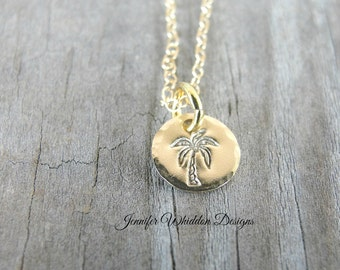 Palm Tree Necklace - Beach Necklace - Palm Tree - Beach Wedding - Dainty Necklace - Gold Palm Tree - Bridesmaids Gifts