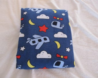 Crib Sheet,Toddler Bed Sheet,Flannel Crib sheet,Navy Blue,Airplanes,Helicopters,Denim,Fitted Crib Sheet