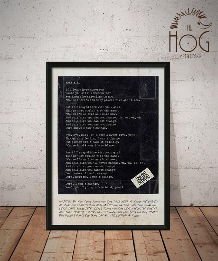 Lynyrd Skynyrd Poster Simple Man Free Bird Tuesday's