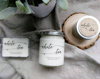 white tea - hand poured soy candle