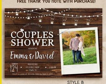 Rustic Couples Shower Invitation, couples shower invitation