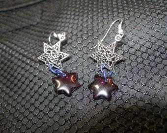 Judaica earrings - double Davids 2   JudaicaonEtsy,  OlympiaEtsy, etsyBead, CouchSurfingTeam, HandmadeJewelry, FunkyAlternativeJewelry, WWWG