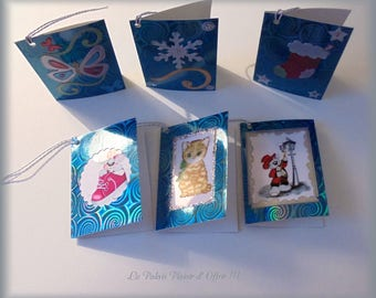"Set of 6 tags double ""Christmas gifts 1"""