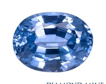 2.56 Carat Blue Sapphire, Oval cut Sapphire, Loose Sapphire Gemstone, Blue Gemstone, Non Heated Real Sapphire