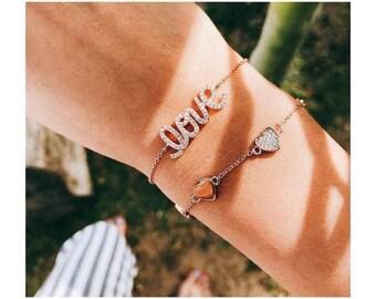 Rose Gold Bracelet Tiny Heart Bracelet Heart Bracelet Dainty Bracelet Love Bracelet Everyday Bracelet Love Gifts Friendship Bracelet Jewelry
