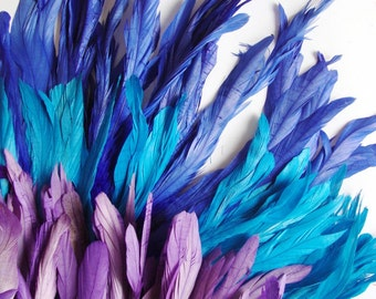 """25-30pcs Rooster Tail Feathers-Lost Sea 7-8"""" tall"""