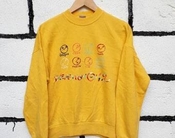 Vintage United Colors Of Benetton Sweatshirt Nice Design