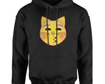 Color Emoticon - Cat Face Smile Adult Hoodie Sweatshirt