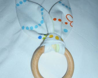 rattle weight bunny ears, ideal birthday gift
