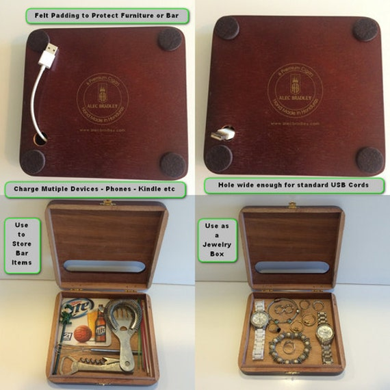 Aviator Beer Tap Handle on a Cigar Box Jewelry BoxBar