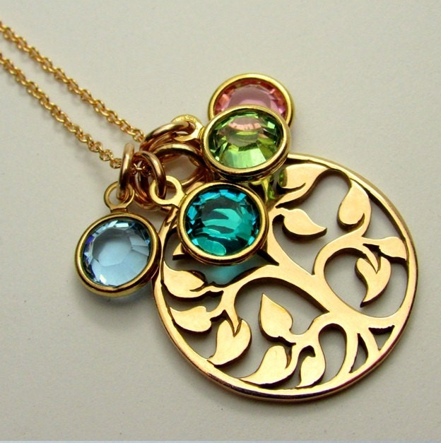 Mothers necklace family birthstones grandmother zoom aloadofball Gallery
