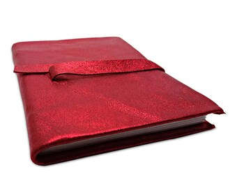 "Pocket size Journal -Color red- Design: ""Groovy"""