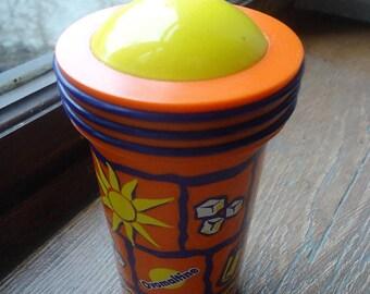 90s true vintage Ovomaltine Cup Vaporwave summer holiday orange Blue Yellow Festival polar bear Penguin