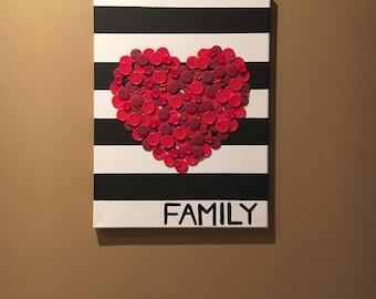 Family Heart Wall Decor