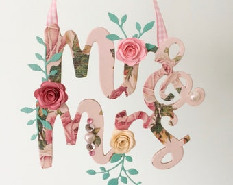 Mr & Mrs decoration - bridal gift or wedding display