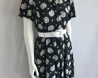 Vintage Women's 80's Liz Claiborne, Dress, Short Sleeve, Knee Length (S)