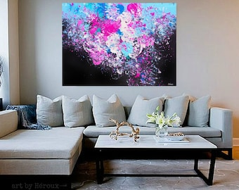 Large Abstract art, Abstract Painting, large bold Abstract wall art, Modern Art on Canvas, vibrant Painting, MADE TO ORDER,