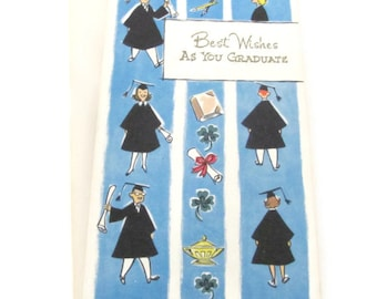 Vintage Graduation Card - 1950's Greeting Card - Graduation Gift