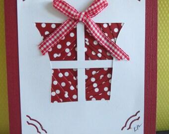 Gift - Present - Iris Folded Card