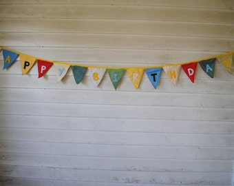 Large Happy Birthday Pendant Banner -- Gender Neutral