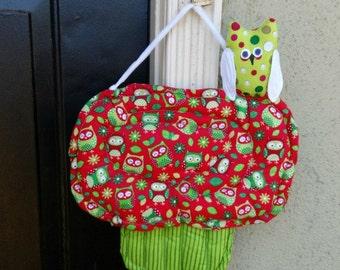 Christmas Owls Handmade Door Decor Cupcake