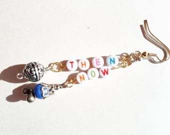 Now Then Earrings with Blue beads