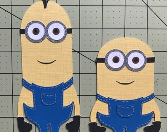 Minions die cut cardstock party decorations