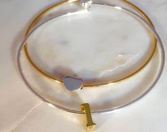 Double Trouble Personalized Initial Charm Bracelet