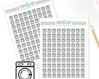 90 Washing Machine Stickers, Laundry Planner Stickers, Cleaning Stickers, Day Designer Stickers, ECLP Stickers,