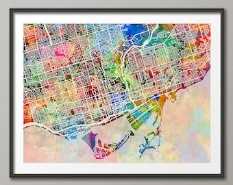 Toronto City Map, Ontario Canada, Art Print (1344)