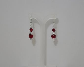 Swarovski Crystal Bridal Earrings - MADE TO ORDER in Any Color - Silver French Wires, Leverbacks or Posts - Shown in Siam