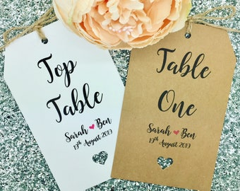 Wedding Table Numbers, Seating Chart/ Seating Plan/ Find Your Seat