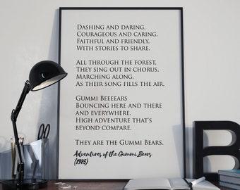 Retro TV classic - Adventures of the Gummi Bears