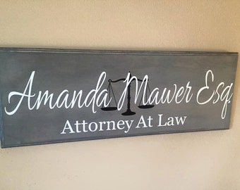 Lawyer Gift, Attorney Gift,Custom Business Sign, Office Sign, Business Sign, Business, Scales Of Justice,Graduation gift,Personalized gift