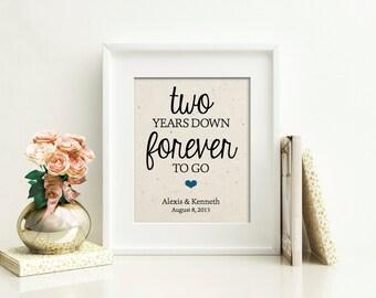 2 Year Anniversary Gift | Cotton Anniversary | 2nd Anniversary Gift for Husband | Years Together Cotton Print | Anniversary Gift for Her
