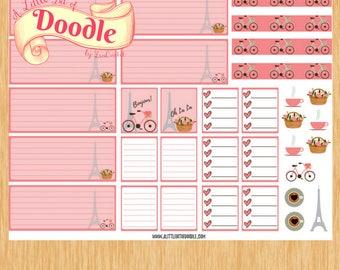 Mini HP Weekly Sticker Set| Mini Happy Planner Stickers| Pink Paris Mini Stickers