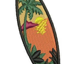 NeedleUp - Tropical Surfboard embroidery design