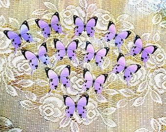 Purple Swallowtail Card Stock Butterflies set of 12
