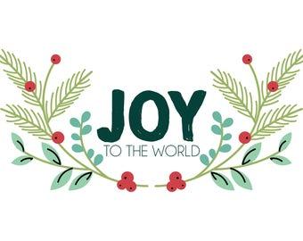 Joy To The World 5x7 Printable