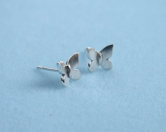 Teeny Tiny Butterfly Earrings ~ Sterling Silver ~ Silver Butterfly Studs ~ Gift for Her ~ Gift for Daughter ~ Bridsmaid Gift