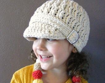Ecru Toddler Hat 2T to 4T Toddler Girl Hat Toddler Boy Hat Cotton Hat Crochet Hat Winter Hat Buckle Beanie Off White Toddler Hat Natural