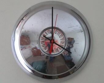 1961-63 Chevrolet Corvair Hubcap Clock - No. 2542