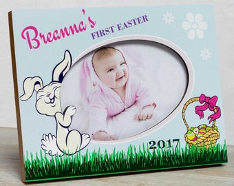 Personalized Easter Picture Frame, Girls First Easter Frame, Girls Easter Frame, Easter Bunny Picture Frame, Baby Easter Frame, Easter Frame