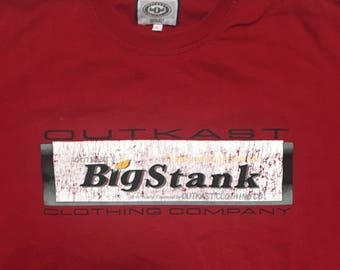 Vintage Outkast - Outkast clothing co - rap tee - rap tees - stankonia - rapper fashion label - bigstank - Atliens -  90's - Size Large