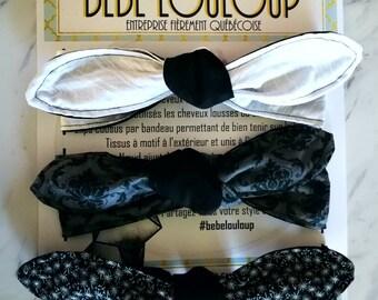 Headband - headband - Pinup - model BlackNGray