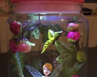 Tinkerbell Fairy Jar Light, childrens night light, fairy lights, fairy garden