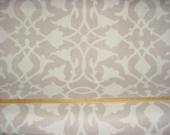 1 yard Kravet / Barbara Barry Poetical - Luxury Floral Trellis Lattice Silhouette Printed Linen Drapery Upholstery Fabric - Free Shipping