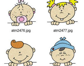 Baby-Toppers ( 7 Machine Embroidery Designs from ATW ) XYZ17F