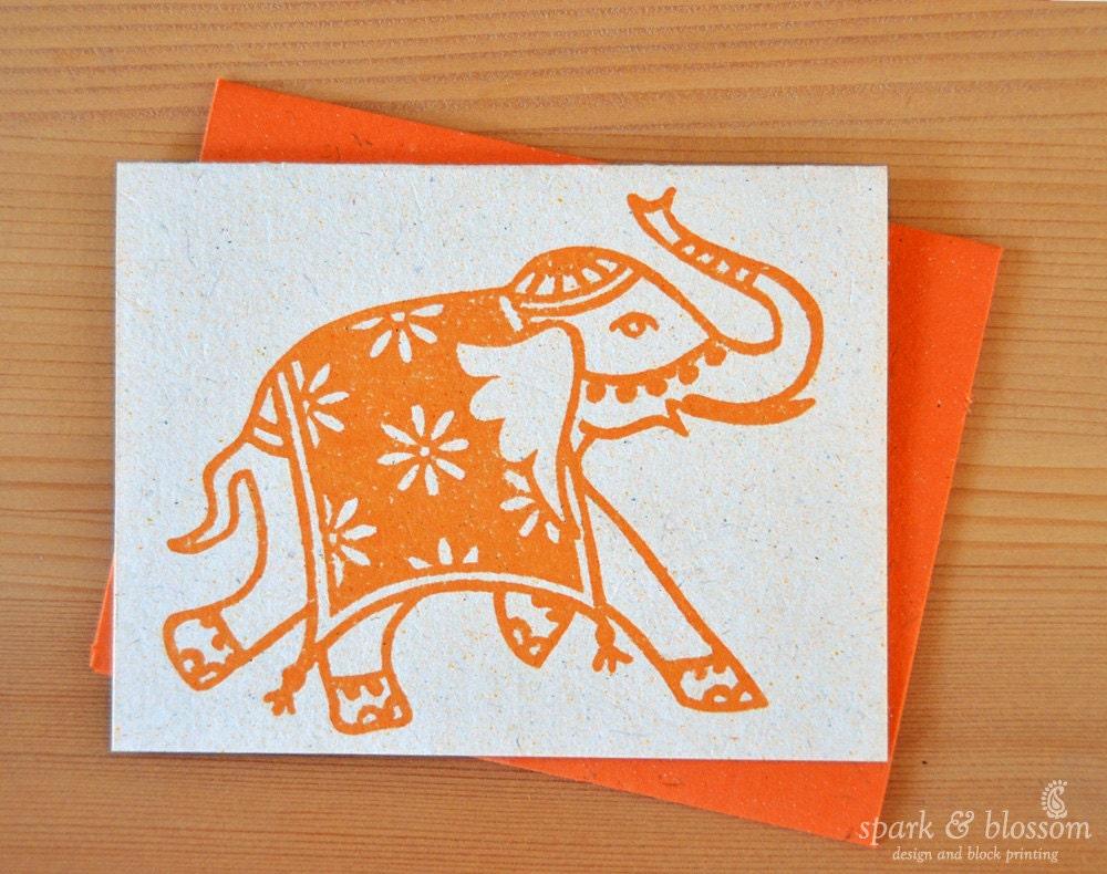 Greeting card rajasthani elephant india art boho blank zoom kristyandbryce Images