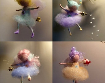 Needle felted Angel, Waldorf inspired, Christmas Angel, Christmas Ornament, Home decor, Christmas fairy, Art Doll, Handmade